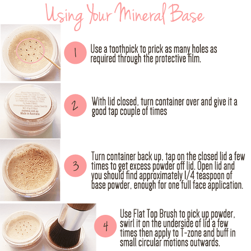 Josie's Beauty - using-mineral-base